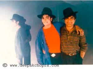 Michael Jackson mit Deepak Chopra