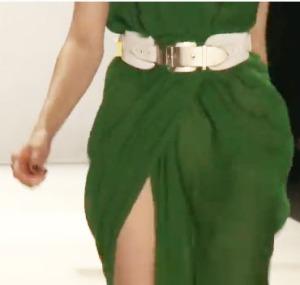 Rena Lange, Kleid in der Hauptfarbe Grün in Chiffonlook 2012
