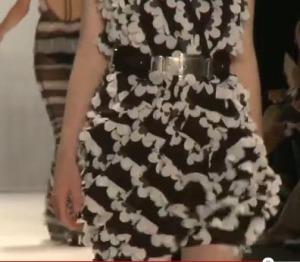 Rena Lange, sexy Rüschen Minikleid